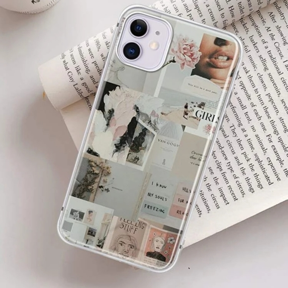 iPhone 12 mini case Collage Pattern with Slogans
